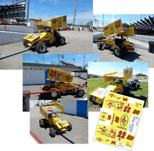 Cd_Sc_014 #22 Jac Haudenschild 1993 Pennzoil Sprint Car 1:64 Decals ~Overstock~
