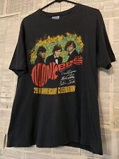 Vtg 80s The Monkees World Tour Rock Band T-shirt