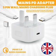 USB-C Fast Charging PD Charger Cable Plug for iPhone 11 iPhone 12 Pro XR XS MAX