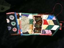 LOVELY 1900's Iroquois beaded roll up needle case