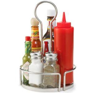 TableCraft Versa Condiment Rack Stainless Steel 18.5cm Table Condiment Holder
