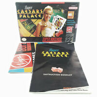 NO GAME Super Caesers Palace (Super Nintendo) BOX & MANUAL ONLY snes