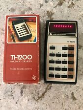 Vintage Texas Instruments Electronic Calculator With Box Ti-1200