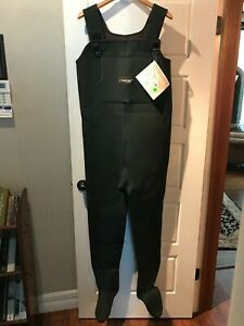 Frogg Toggs Amphib Neoprene Chest Waders with Stockingfoot Size Large Green