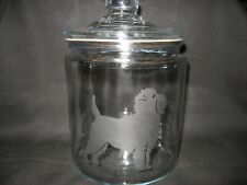 New Etched Affenpinscher Glass Cookie Candy Treat Storage Jar Canister