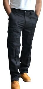 Mens Toughened Combat Cargo Utility Work Trousers Pants 6 Pocket sizes 32 to 42