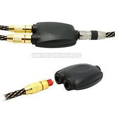 UN3F 2 Way Black Toslink Optical Audio Splitter Adapter Fiber Optic Converter