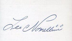 Leo Nomellini Hof Signed Jsa Cert Sticker 3x5 Index Card Authentic Autograph