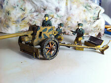 75mm Panzerjagerkanone (75mm Pak 40) German WII anti-tank gun w/soldiers