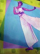 Ballet Dancer Dancing Purple Vinyl Shower Curtain New