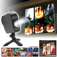 Halloween Christmas Holographic Optical Projector Home Window Display Projection