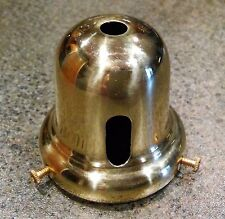 """2 1/4"""" LAMP SHADE HOLDER SOLID BRASS REPAIR FIXTURE W/ SWITCH HOLE"""
