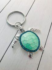 Sea Turtle Keychain Rhinestone Sea Beach Mermaid Seahorse Key Ring
