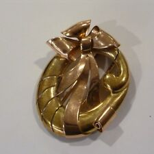 Art Deco Dress Clip Brooch Excel Condition Vintage Ladies 14K Pink + Yellow Gold