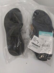 Reef Authentic Surf Womens Ginger Flip Flop Sandals Black Flat Slip On 7 NWT