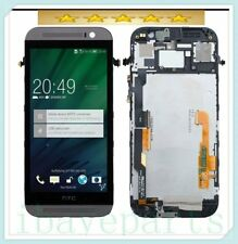 For HTC ONE M8 Grey LCD display  Touch Screen Digitizer + Frame Assembly