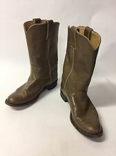 JUSTIN LADIES LEATHER COWBOY BOOTS SIZE 6B TAUPE STYLE  L3067 MADE IN THE USA!