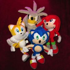 SET OF 4 PLUSH TOYS SONIC THE HEDGEHOG SILVER TAILS & KNUCKLES! CHINA