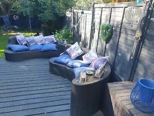 Argos 2 Rattan Curved Sofas With Cushions