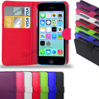 Apple iPhone 5C - PU Leather Wallet Case Cover  &  Free Screen Protector