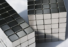 """10 MAGNETS 8mm X 8mm (5/16"""") cubes strongest possible N52 Neodymium - US SELLER"""