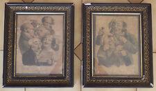 deux lithographies Delpech signées L. BOILLY dans leurs cadres en bois noirci