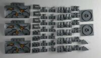 Lego Light Bluish Gray Modified Brick Plate Slope New 47 Parts Pieces Lot