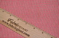 Premium 100% Printed Cotton Poplin Small Gingham Print,High Quality, 112 cm wide