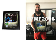 WWE BRAUN STROWMAN HAND SIGNED MITB FRAMED PLAQUE 15X17 WITH PROOF AND COA