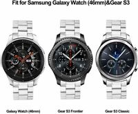V-MORO Metal Strap Compatible with Galaxy Watch 46mm Bands/Gear S3 Classic/Front