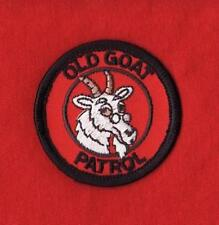 OLD GOAT PATROL Boy Cub Scout patch red round