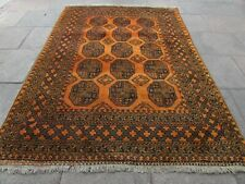 Vintage Hand Made Traditional Golden Afghan Oriental Wool Gold Carpet 280x200cm