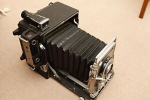 Graflex Speed Graphic 4x5 camera working Graflok  Beattie Intenscreen 127 lens