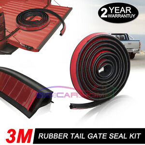 For HOLDEN COLORADO RG TAILGATE SEAL KIT 3M RUBBER UTE DUST TAIL GATE