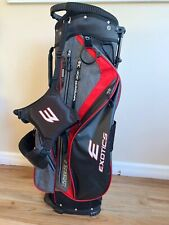 Exotics Xtreme 4 Cart Golf Bag Red Gray & Black 7-Way Divider With Rain Cover