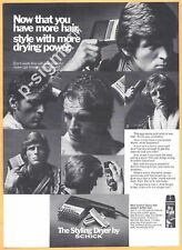 The Styling Dryer by SCHICK - 1971 Vintage Print Ad