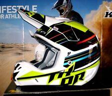 THOR VERGE stack Mx Fuoristrada Quad Casco Enduro Verde Kawasaki KX-F NUOVO L AIROH FLY