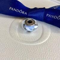 Authentic Genuine Pandora Light Blue Swirly Swirls Murano Glass Charm #790674