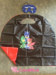PJ Masks inspired Cape and Mask,Birthday Party Favors Supplies,Catboy,Owlette
