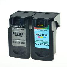 1PK PG210XL+1PK CL211XL Black Color Ink Cart for Canon PIXMA MP495 MP499 MP260