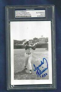 Frank Robinson Cincinnati Reds Baseball Autographed Brace Postcard Photo PSASLAB