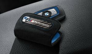 Originale BMW M Performance Astuccio Portachiavi Carbonio/Alcantara 82292355518