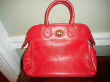 Chic vintage Chloe smooth & epi red leather tote bag