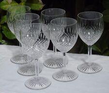 Saint Louis - Service de 6 verres à vin en cristal taillé, modèle Vendôme
