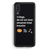 3 Dinge Einsame Insel: Pizza Wlan Schlaf Samsung Galaxy A40 Silikon Hülle Mot...