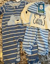 NWT 5 PIECE BABY BOY GERBER ORGANIC COTTON CLOTHING LOT SIZE 3-6 MONTHS