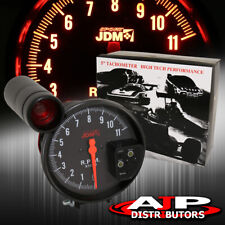 """5"""" Black Face Tachometer 11K Rpm Tach Gauge With Red Shift Light All Ford"""