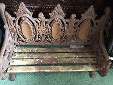 Vintage / Antique  *  Cast Iron  *  Beech  *  Garden Bench  *  Un Resorted