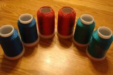Lot of 6  Slightly Used Ackermann Metallic Embroidery Thread 1000 meter