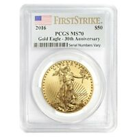 2016 1 oz $50 Gold American Eagle PCGS MS 70 First Strike